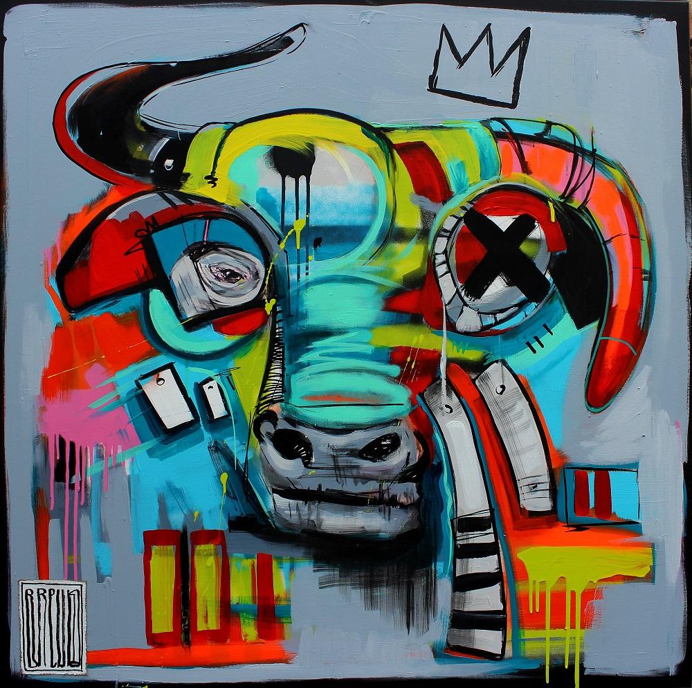 the-bull-portrety-zwierzat-brewka-obrazy-cykl