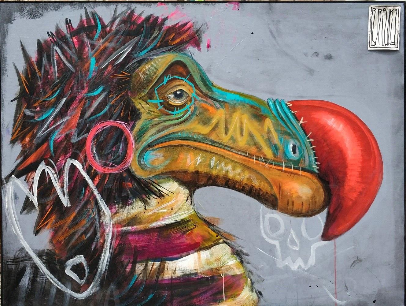 punks-not-dead-but-dodo-is-brewka-obrazy-portrety-zwierzat-obrazy