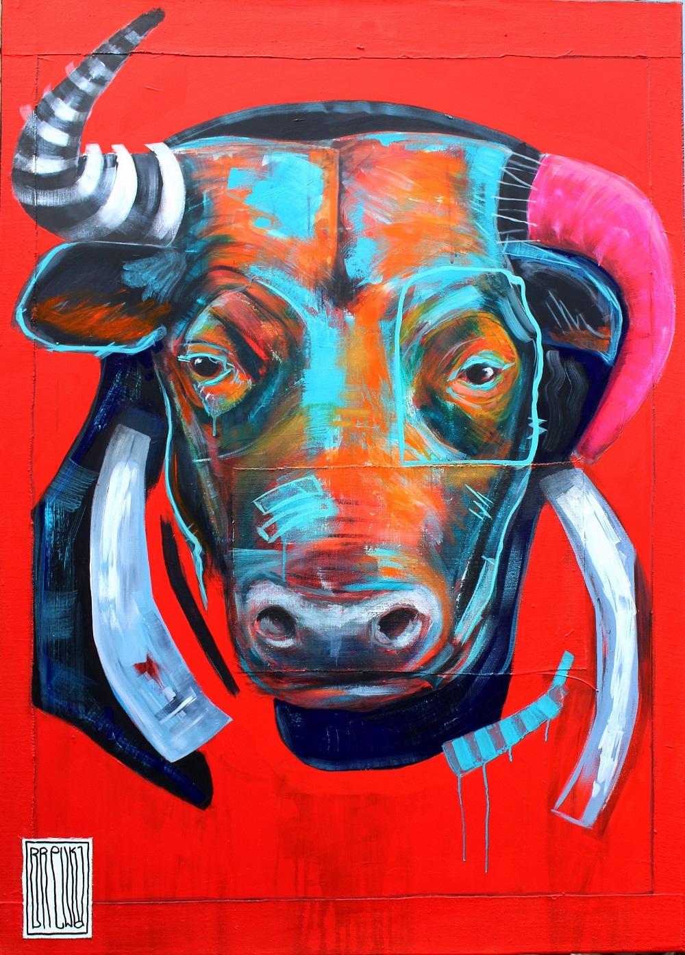 obrazy-brewka-portrety-zwierzat-bull-cykl