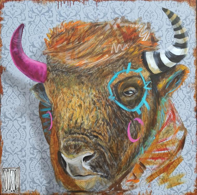 bisosn-bonasus-brewka-obrazy-cykle-portrety-zwierzat