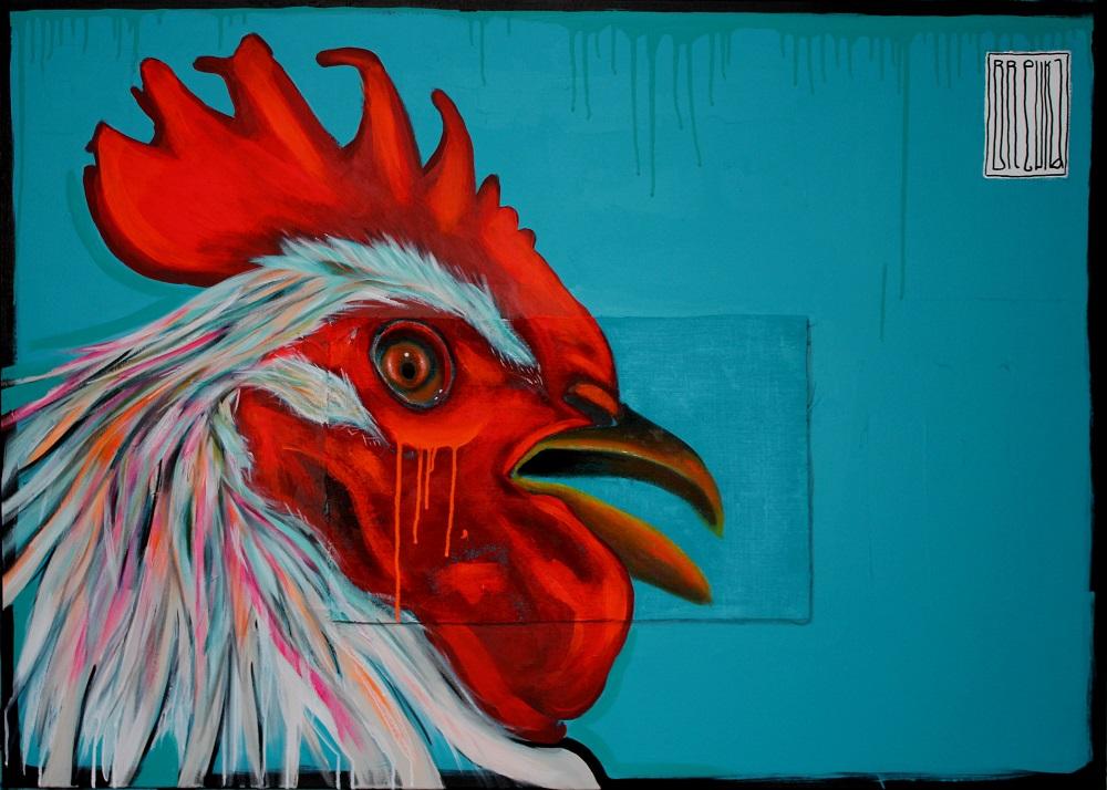 brewka-rooster-portrety-zwierząt-brewka-obrazy