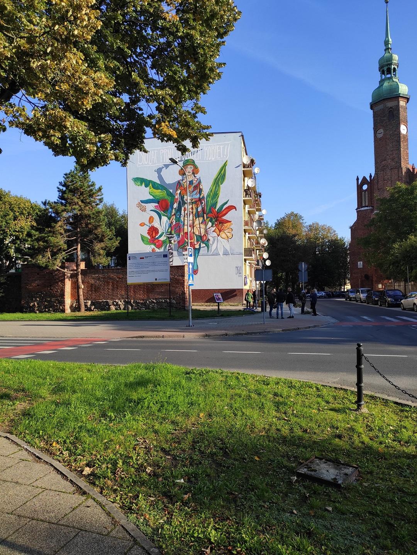 Mural w Słupsku