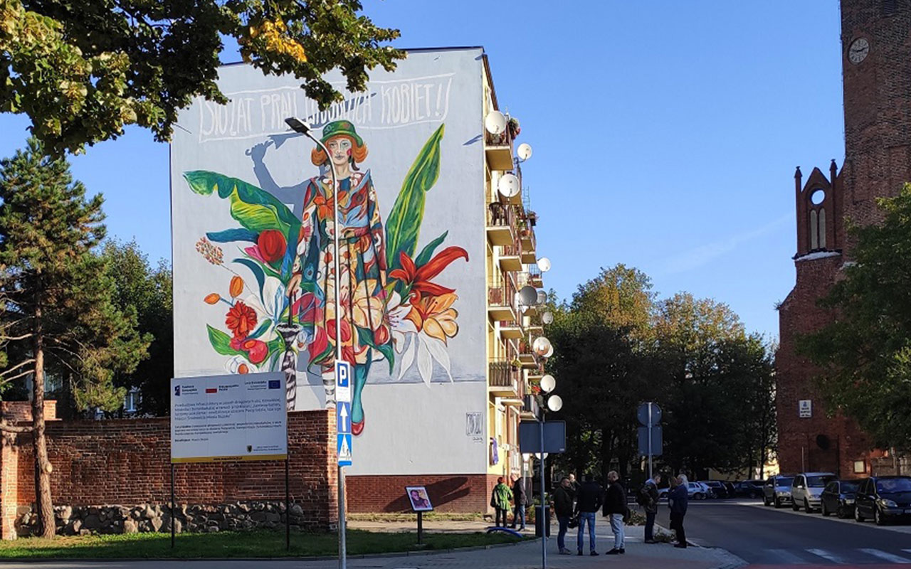 Otwarcie muralu wSłupsku